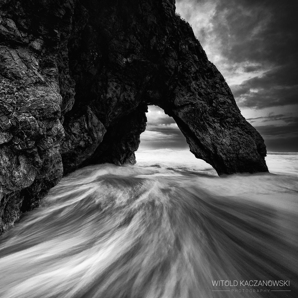 Adraga Beach high tide (Sintra-Cascais, Portugal)