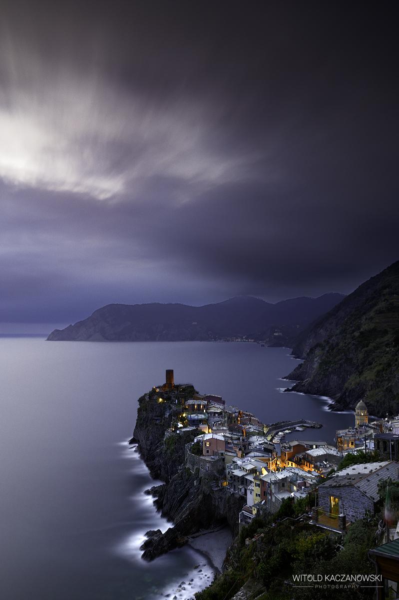 Evening view of Vernazza (Cinque Terre, Italy)